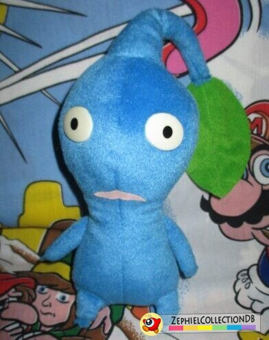 Blue Pikmin Plush with Leaf