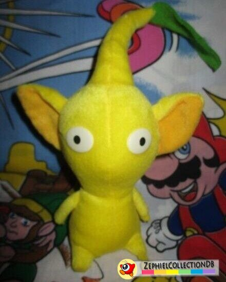 Yellow Pikmin Plush with Leaf