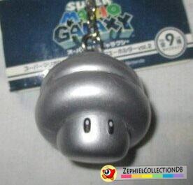 Super Mario Galaxy Spring Mushroom Figure Keychain