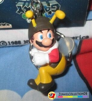 Super Mario Galaxy Bee Mario Figure Keychain