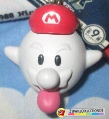 Super Mario Galaxy Boo Mario Figure Keychain