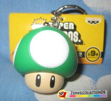 New Super Mario Bros. 1-Up Mushroom Figure Keychain